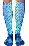 Das beste Socken Damen 3D Ausdruck lustige Frauen Kniestruempfe Strand Neuheit Cosplay Strümpfe Schöne Mädchen Socken Sommer Strand Mode Einhorn-Muster Print Socken Tier Socken