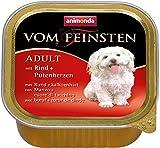 Animonda Vom Feinsten Adult, Nassfutter für ausgewachsene Hunde von 1-6 Jahren, mit Rind + Putenherzen, 22 x 150 g