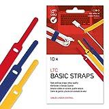 Label-the-cable fascette chiusura a strappo, etichetta cavo universale, effetto velluto, cavi in ordine, controllo cavi / LTC BASIC STRAPS, 10 pezzi, 17 cm, Colori, LTC 1130