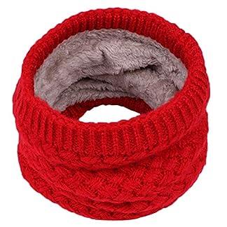 BaZhaHei Niños Invierno Cálido Bufanda Niños Niñas niños Bebé Punto Cuello Cuello Bufandas Kids Baby Knitted Collar Neck Scarves Bufanda cálida Bufanda de Lana de Punto de Terciopelo para niños más