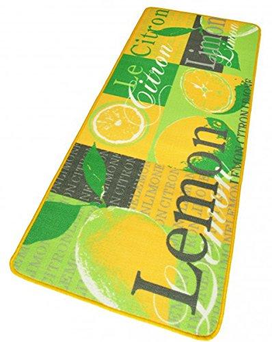 Preisvergleich Produktbild Hanse Home 102105 Teppichläufer, Polyamid, gelb / grün, 67 x 180 x 0.8 cm