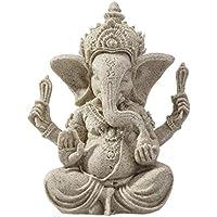 ULTNICE 1 Pcs éléphant Statue Sculpture grès Ganesha Bouddha fait main Figurine
