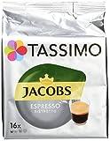 Tassimo Jacobs Espresso Ristretto, Kaffee T Discs, 16 Getränke, 128g