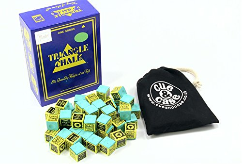 King Triangle Snooker- und Billard-Kreide, Grün, 12 Stück (Kreide Billard Triangle)