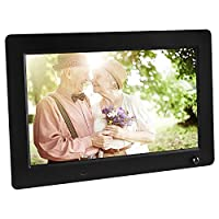 APEMAN 10.5-Inch Full-HD Digital Photo Frame 16:9 Video Music Picture Player High Resolution Calender Date Display Motion Sensor with Remote Control