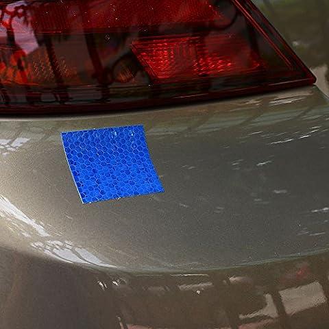Giantree Reflektierende Klebeband Aufkleber Aufkleber Auto Film Motorrad Glänzende Stern Kristallgitter Styling Selbstklebende Warnung 3mx5cm Sicherheit