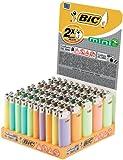 BIC–Mechero de pluma Cilindro de mini J25, neutral, pastel, 50unidades, 1er Pack (1x 50unidades)