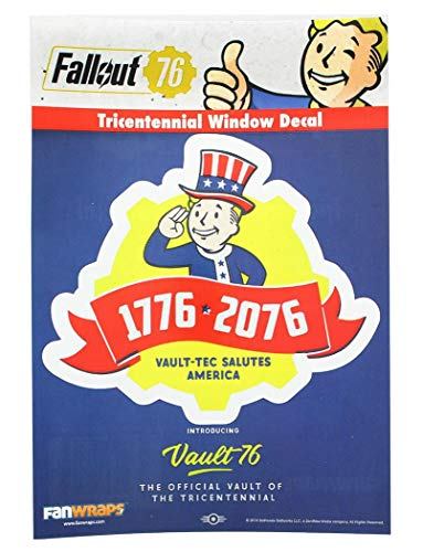 Fallout 76 Tricentennial Logo Window Decal