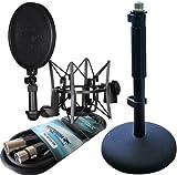 Rode SM6Micrófono de araña, protección contra pops + Rode DS-1,trípode de mesa + Micrófono Keepdrum, cable de 6m gratis