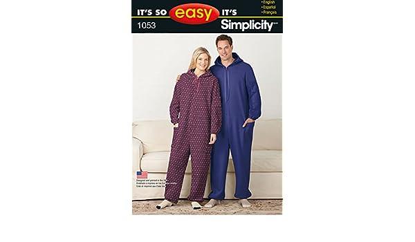 Simplicity 1053 Größe A Seine so einfach Fleece Overall für ...