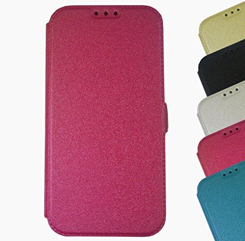Für HTC Book Pocket Case Hülle Flip Cover Klapptasche Magnet One A9 Gold Pink + Displayschutzfolie
