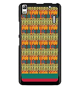 PrintDhaba Pattern D-1889 Back Case Cover for LENOVO A7000 (Multi-Coloured)