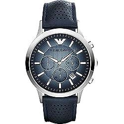 Emporio Armani Herren-Armbanduhr XL Chronograph Quarz Leder AR2473