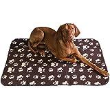 Haustierdecke Hundedecke XL - ca. 70x100 cm wasserdicht Unterlage Haustier Decken für Hunde und Katzen Fleecedecke (Braun)
