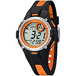 Calypso children/Jugend Watch Digital Alarm Orange K5558/4