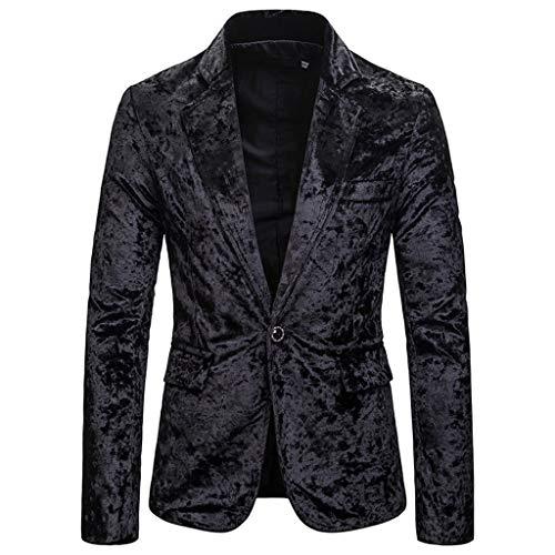 Luckycat Herren Sakko Hochzeit Smoking Herren Shiny Samt Anzug Multi Farbe und Größe der Männer Hübsche Jacken-Blazer für Nachtklub Hochzeit Partei Herren Frühling Herbst Blazer Business Anzug