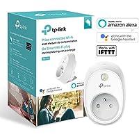 TP-Link HS110(FR) Prise connectée WiFi avec mesure de consommation, Charge maximale 16A, compatible avec Amazon Alexa (Echo et Echo Dot), Google Assistant et IFTTT, aucun hub requis,Blanc