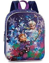 Preisvergleich für Disney Die Eiskönigin Kinderrucksack Rucksack blau lila 3-6 Jahre Glitzerdruck