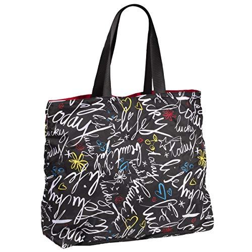 Isotoner Tote (Isotoner , Damen Tote-Tasche, Graffiti/Rouge - Größe: Einheitsgröße)