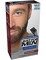 Just For Men Moustache & Barbe M35 Coloration Barbe, Châtain Moyen, 28 g