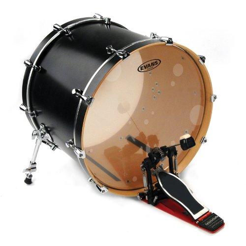 EVANS エヴァンス バスドラムヘッド ハイドローリック グラス BD22HG / Hydraulic Bass Heads Glass (6.5mil + 6.5mil) 22インチ 【国内正規品】