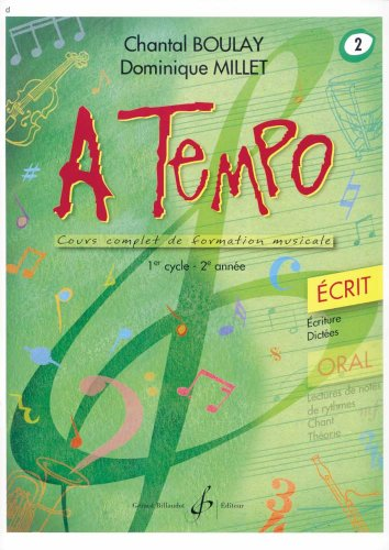 A Tempo - Partie Ecrite - Volume 2 par Boulay Chantal
