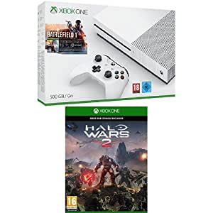 pack console xbox one s 500 go battlefield 1 halo wars. Black Bedroom Furniture Sets. Home Design Ideas