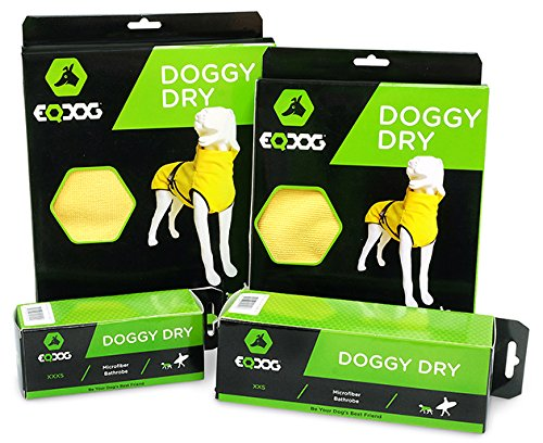 EQDOG 382-772 Doggy Dry Hundebademantel, XXS, gelb - 5