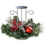 WeRChristmas - Centrotavola con supporto portacandela, motivo natalizio, 22 cm