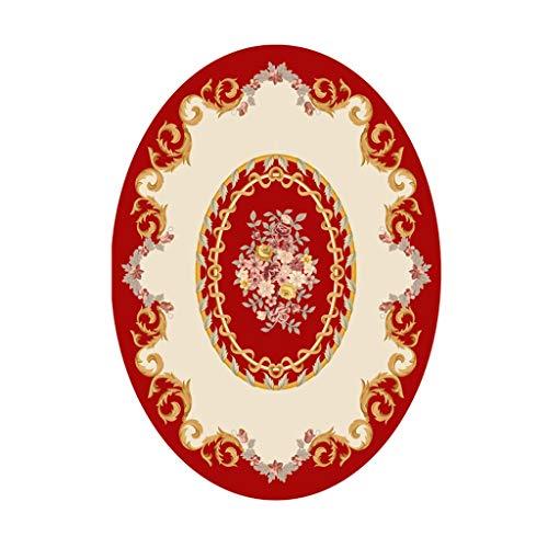 Zyj stores-Teppich Ultraweiche Moderne Innenteppiche European Pastoral Oval Schlafzimmer Nacht Teppiche for Wohnzimmer Kaffee Esstisch Oval Home Teppiche Arbeitszimmer Bodenmatte Area Rug -