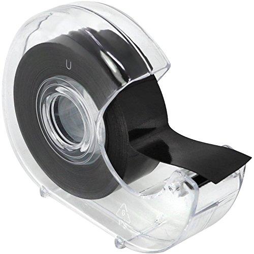 com-four® Selbstklebendes Magnetklebeband mit Abroller, Magnetstreifen für Haushalt, Arbeit oder Schule, 5 m