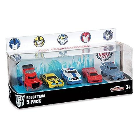 Majorette, 213113007, Véhicules Miniatures, Transformers Gift Pack 5 Pièces