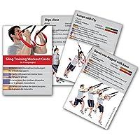 Slingtrainer Trainings- und Workoutkarten Premium Sling Training Kartenspiel, Suspension Trainer Übungen Trainingsplan Fitness-Karten schlingentrainer