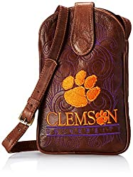 NCAA Clemson Tigers Women's Cross Body Purse, Brass, One Size