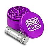 formax4206,3cm violett Metall Kräutermühle 4Stück Tabak mit Pollen Pr