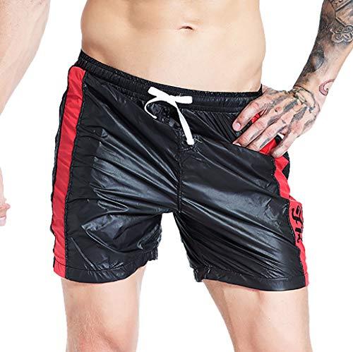Herren Mode Badeshorts Badehose Swimming Sommer Beach Shorts für Männer Bedruckte Badehosen mit Tunnelzug Taschen Strandshorts Zolimx -