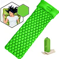 VOOPH Inflatable Camping Sleeping Pad Mat, Ultra Lightweight Roll Mat Inflatable Camping Mattress Air Pad Portable Outdoor Compact Hiking Backpacking Hammock Tent Sleep Mat
