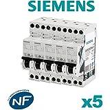 SIEMENS Ingenuity for life - Lot de 5 Disjoncteurs électriques phase + neutre 20A