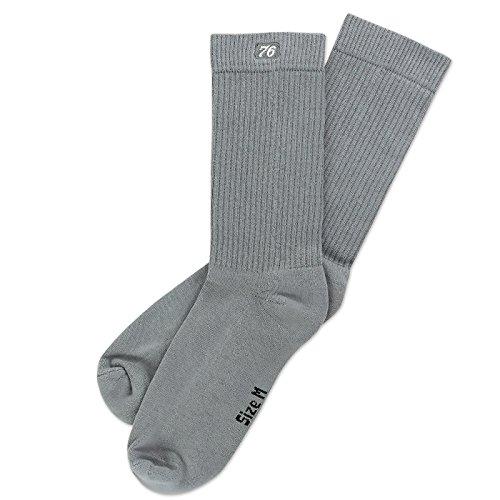 the Basics Lo Grey   Halbhohe Retro Crew Socken von Spirit of 76   Grau   stylische Unisex Sport Strümpfe Size S (35-38)