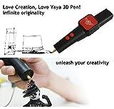 Mcoplus - YaYa3D Basispaket: 3D-pen 3D-Druck Stift V1.5 + zwei Filamente (Schwarzweiß, 2,2 Unzen ABS 1,75 mm)