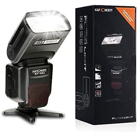 Flash TTL - K&F Concept® KF-882 Flash Speedlite Maestro Flash Light para Canon 1000D 600D 450D 100D 1100D 650D 700D 550D 400D 500D 300D 100D 1300D 1200D 750D 760D 70D 60D 50D 40D 7D 6D 1Ds SX50