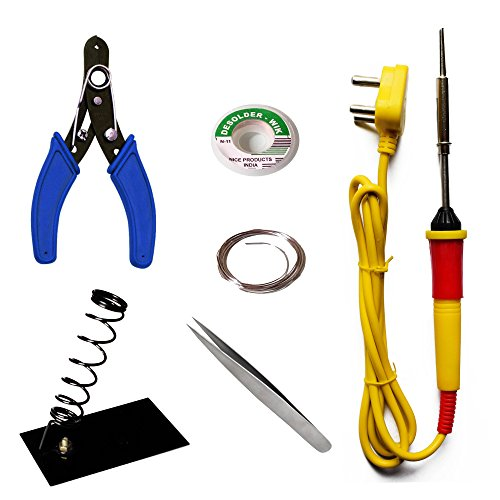 Aptechdeals Beginners 6 in 1 Economy Soldering Iron Kit/Electric Soldering Iron Kit 6 in 1