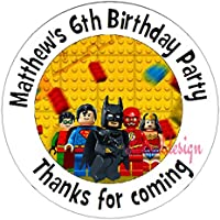 "Eternal Design 48 x 30mm Personalised Glossy Kids Birthday Party ""Thanks for Coming"" White Stickers KBCS 161"