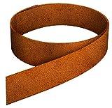 C & C Gartenbedarf Rasenkantenband aus Corten Stahl 15 cm hoch Edelrost Rostpatina Rasenkante 20 Meter