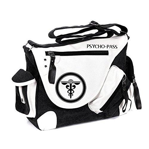 Siawasey anime giapponese Cosplay borsa Satchel zaino messenger bag borsa a tracolla nero One-Punch Man2 Psycho-Pass
