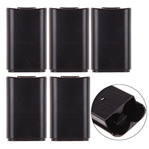 deckung für Xbox 360 Controller, 5 AA-Batterien, Schwarz ()
