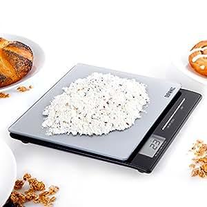 Duronic KS865 Slim Portable Design Digital Display 5KG Tempered Glass top Kitchen Scales / Postal Scales