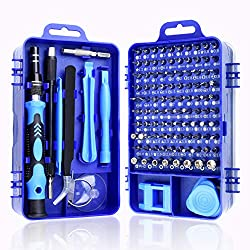 Bruphny Schraubendreher Set Feinmechanik, 115 in 1 Schraubendreher Satz Magnetisch Reparatur Werkzeug Set für Iphone, PC, Uhr, Laptop, Brillen, Elektronik, Juweliere, etc