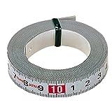Tajima PIT30R Pit Measure Mètre à ruban 3 m/16 mm adhésif, Blanc