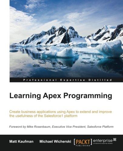 Learning Apex Programming por Matt Kaufman
